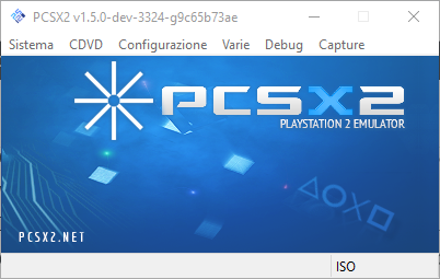 PCSX2 Main screen