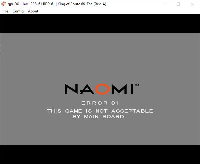 Demul Naomi - Wrong BIOS
