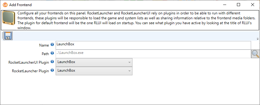 LaunchBox - RL add frontend