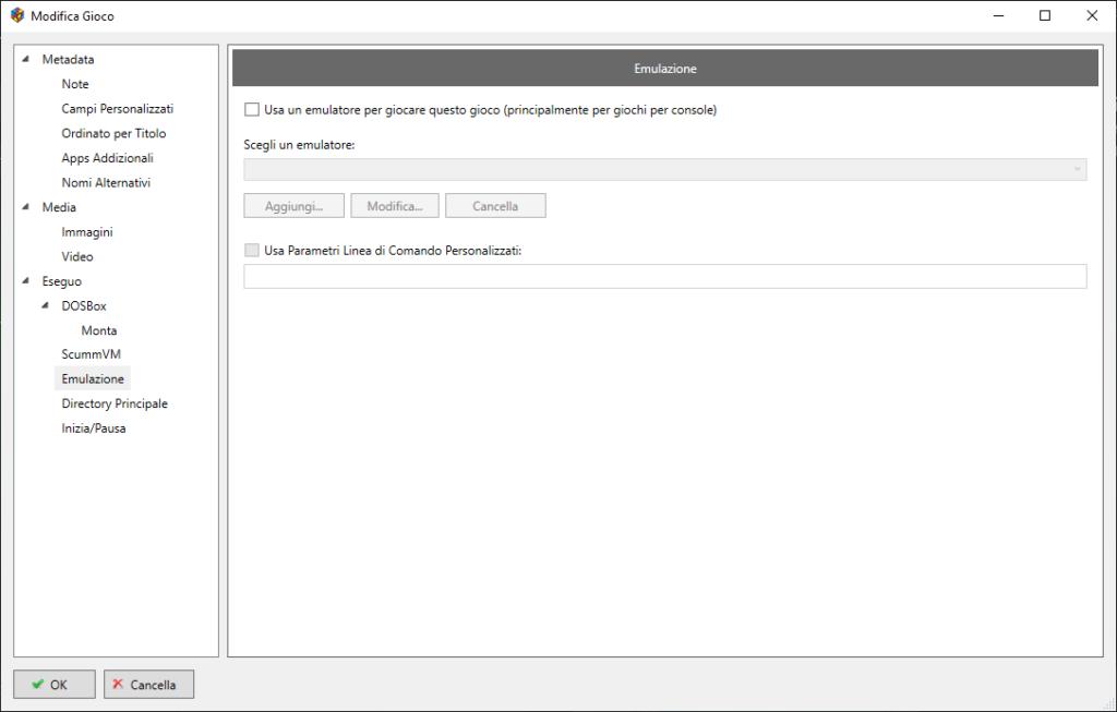 LaunchBox - Edit Emulation