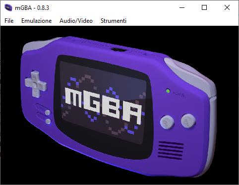 mGBA main screen