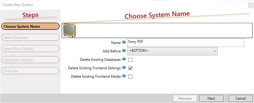RUI PSP add system