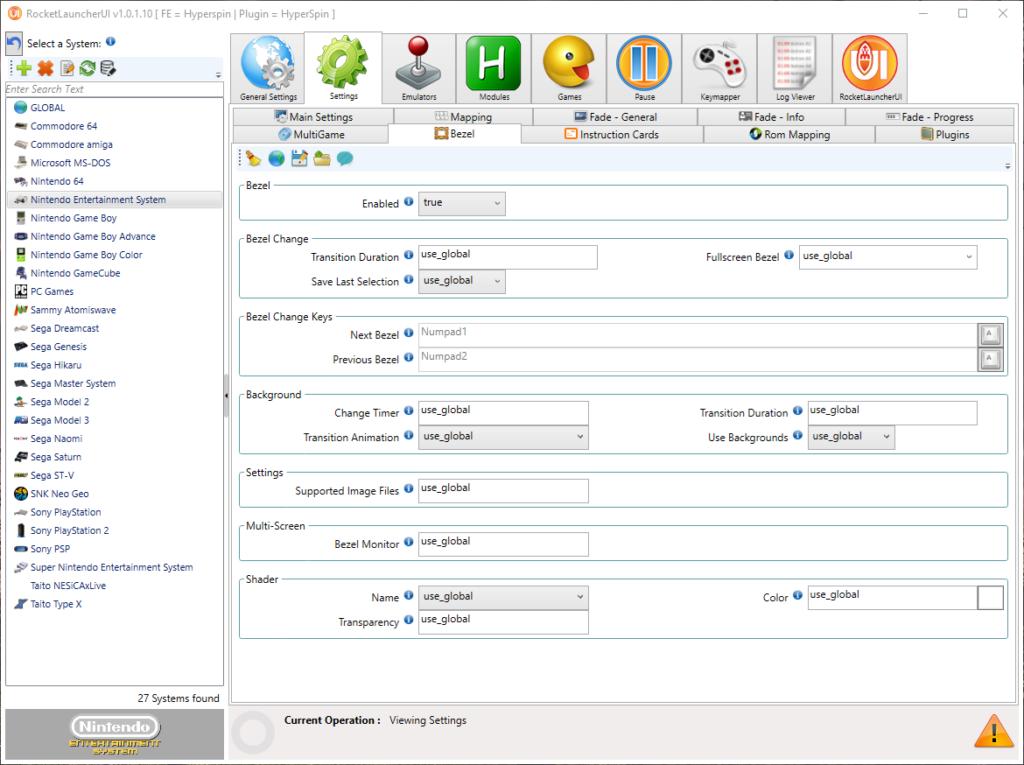 RUI enable Bezel