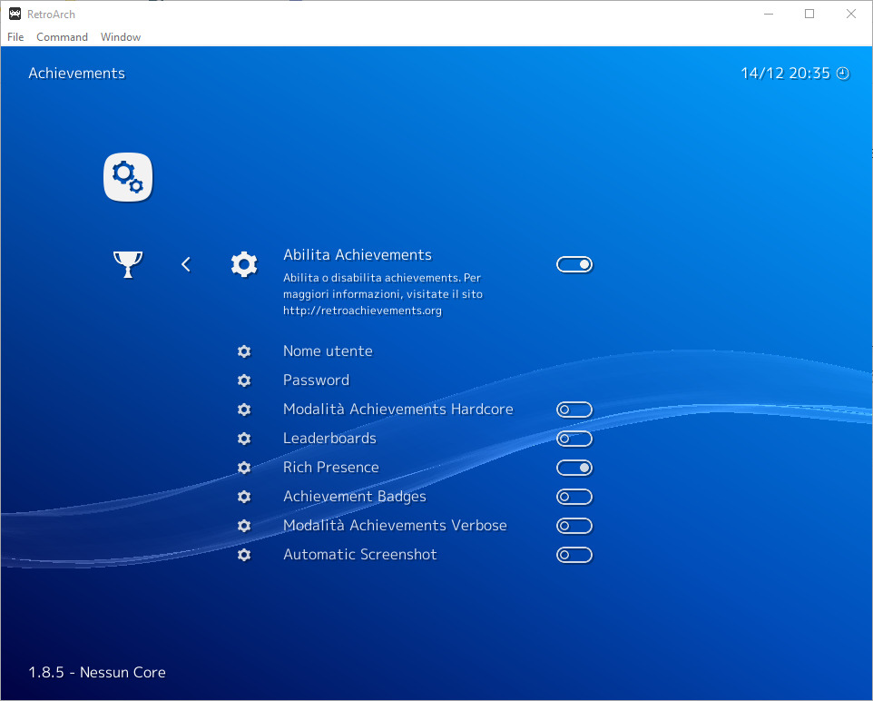 Retroarch Enable Achievements