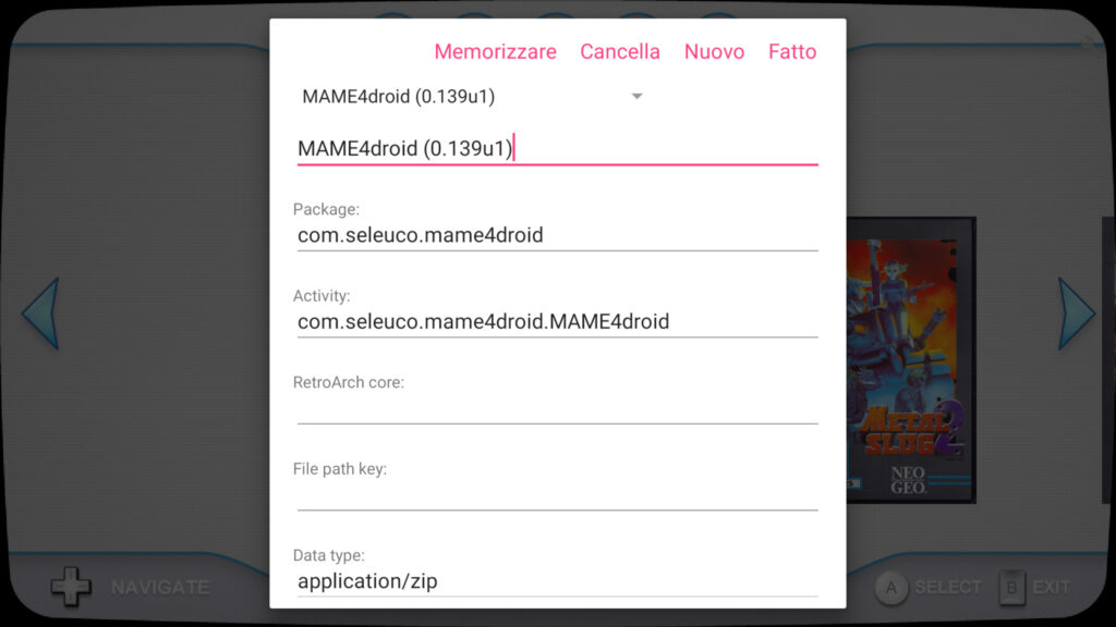 MAME4droid DIG setup