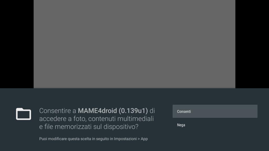 MAME4droid permission